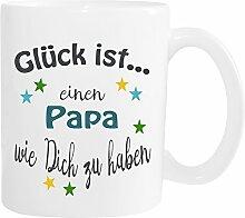 WarmherzIch Becher Tasse Glück ist… Papa Kaffee