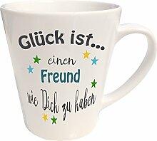 WarmherzIch Latte Tasse Glück ist…. Freund