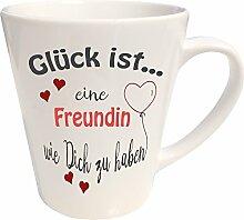 WarmherzIch Latte Tasse Glück ist… Freundin