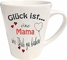 WarmherzIch Latte Tasse Glück ist… Mama Kaffee