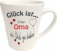 WarmherzIch Latte Tasse Glück ist… Oma Kaffee