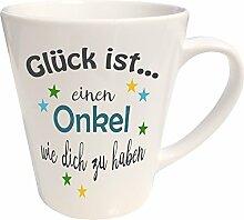 WarmherzIch Latte Tasse Glück ist… Onkel Kaffee