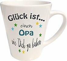 WarmherzIch Latte Tasse Glück ist… Opa Kaffee