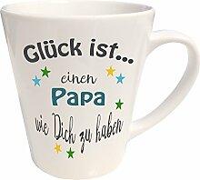 WarmherzIch Latte Tasse Glück ist… Papa Kaffee