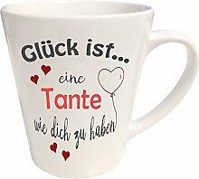WarmherzIch Latte Tasse Glück ist… Tante Kaffee