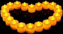 Warmiehomy 24 LED Kerzen LED Flammenlose