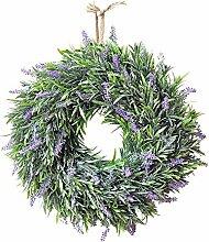 Warmiehomy Blumenkranz Lavendel, Künstliche