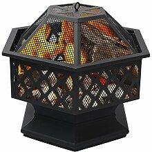 Warmiehomy Feuerschale Feuerkorb mit Funkenhaube