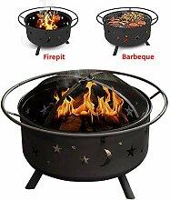 Warmiehomy Runde Grillschale Feuerkorb Holzofen