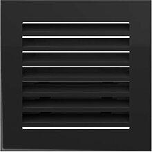 Warmluftgitter Ofen 17x17 cm Schwarz gebürstet