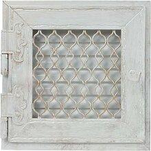 Warmluftgitter Retro Weiss Ofen 19,5x19,5 cm mit