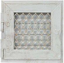 Warmluftgitter Retro Weiss Ofen 23,8x23,8 cm mit