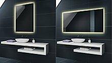 WARMWEIß 120 x 70 cm Design Badspiegel mit LED Beleuchtung von Artforma | Wandspiegel Badezimmerspiegel |Spiegel nach Maß