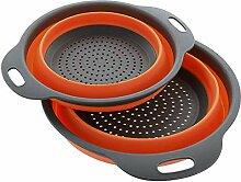 Warmwin Faltbarer Silikon-Aufbewahrungskorb Küche