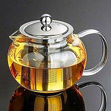 Warmyee Hofu Kleine Teekanne aus Borosilikatglas