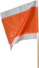 Warnflagge 750 x 750 mm, weiß-rot-weiss