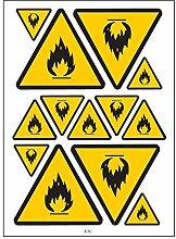 Warnung A4 Sticker Aufkleber selbstklebend-B74