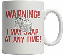 Warnung, ich kann jederzeit schnappen Becher -