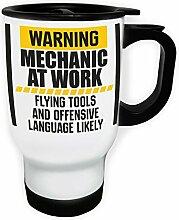 Warnung Mechaniker bei der Arbeit fliegende