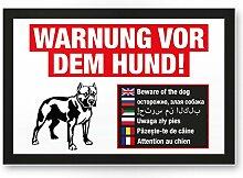 Warnung vor dem Hund Kunststoff Schild