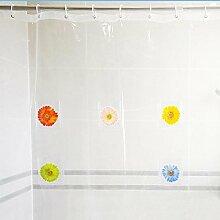 Warooms PVC Duschvorhang Multi-Pocket Duschvorhang