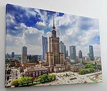 Warschau City Skyline Leinwand Canvas Bild