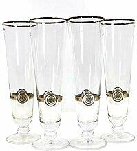 Warsteiner Gläser 4x0,3l Exklusiv Biertulpe mit