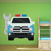 Wartung Fahrzeug Wandaufkleber Rettung Auto Wandtattoo Jungen Garage Wohnkultur Erhältlich in 8 Größen Riesig Digital
