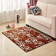 Waschbar Schlafzimmer Bett gepolsterte Bodenmatte Wohnzimmer Couchtisch Matten Anti-Rutsch Badvorleger Fußmatten-K 100x200cm(39x79inch)