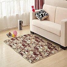 Waschbar Schlafzimmer Bett gepolsterte Bodenmatte Wohnzimmer Couchtisch Matten Anti-Rutsch Badvorleger Fußmatten-L 80x120cm(31x47inch)