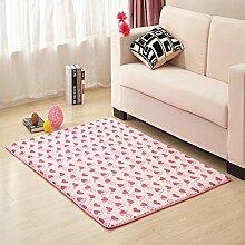 Waschbar Schlafzimmer Bett gepolsterte Bodenmatte Wohnzimmer Couchtisch Matten Anti-Rutsch Badvorleger Fußmatten-D 50x80cm(20x31inch)