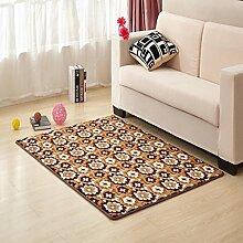Waschbar Schlafzimmer Bett gepolsterte Bodenmatte Wohnzimmer Couchtisch Matten Anti-Rutsch Badvorleger Fußmatten-O 60x90cm(24x35inch)