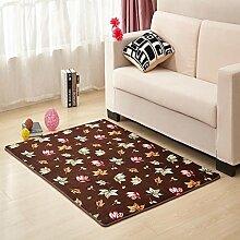 Waschbar Schlafzimmer Bett gepolsterte Bodenmatte Wohnzimmer Couchtisch Matten Anti-Rutsch Badvorleger Fußmatten-M 60x90cm(24x35inch)