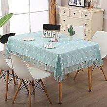 Waschbare Baumwolle Quaste Design Tischdecke,