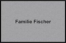 Waschbare Fußmatte - Familie Fischer - 40x60 cm