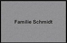 Waschbare Fußmatte - Familie Schmidt - 40x60 cm