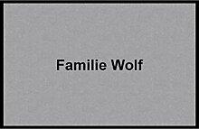 Waschbare Fußmatte - Familie Wolf - 40x60 cm