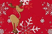 waschbare Fußmatte - Weihnachten Hirsch im Schnee