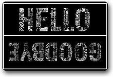 Waschbare Hello and Goodbye Fußmatte 40cm * 60cm