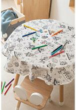 Waschbare Tischdecke mit 12 Fanni Kids Coloring