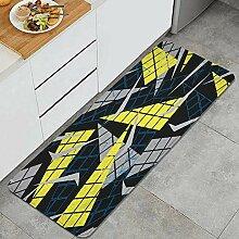 Waschbarer Küchenteppich,Abstrakte geometrische