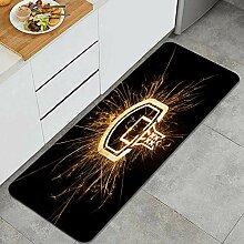 Waschbarer Küchenteppich,Basketballbrett in