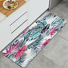 Waschbarer Küchenteppich,Blumen des