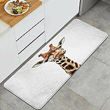 Waschbarer Küchenteppich,Das Gesicht Einer