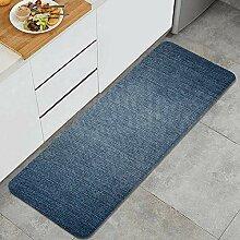 Waschbarer Küchenteppich,Denim Jeans Textur Denim