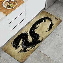 Waschbarer Küchenteppich,Die Schwarze Tinte und