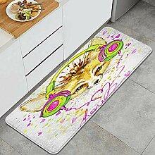 Waschbarer Küchenteppich,Fennec Fuchs und