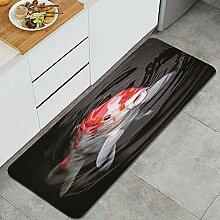 Waschbarer Küchenteppich,Fisch Goldfisch
