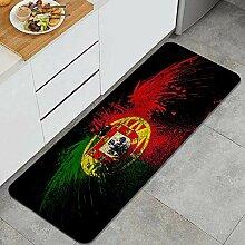 Waschbarer Küchenteppich,Flagge von