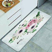 Waschbarer Küchenteppich,Gartenblume Lavendel
